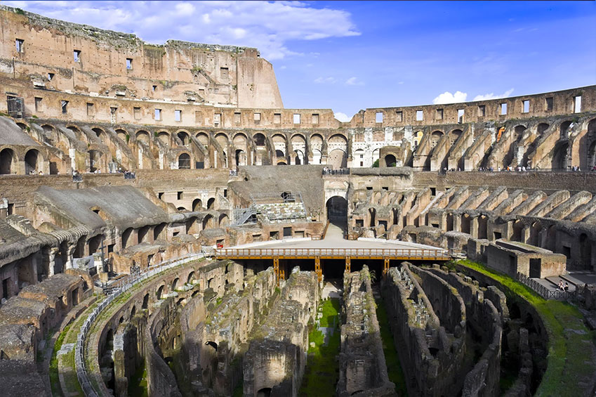 The Aging Roman Colosseum