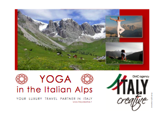 YOGA mountains by Italy Creative