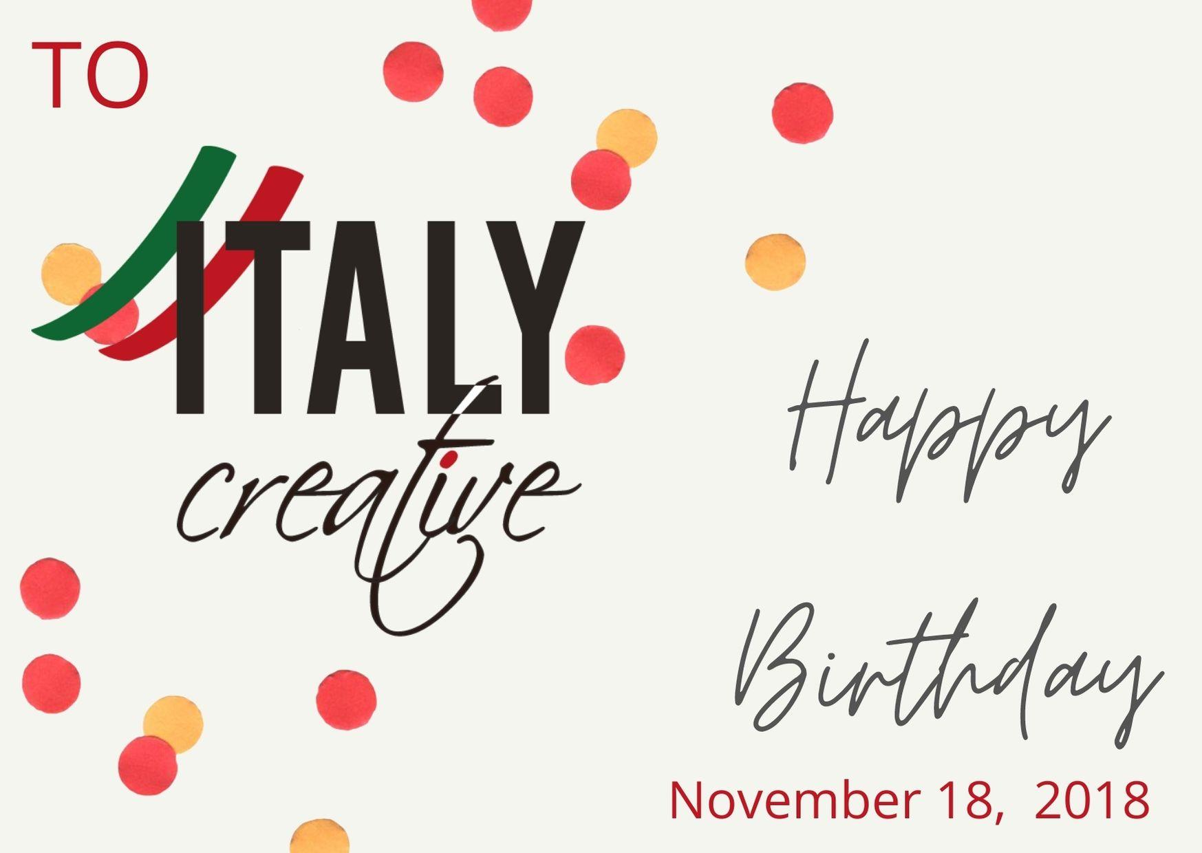 Italy Creative | Happy birthday 2018