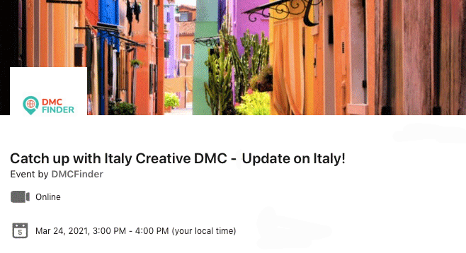 Italy Creative webinar 24-03-2021 & DMC Finder