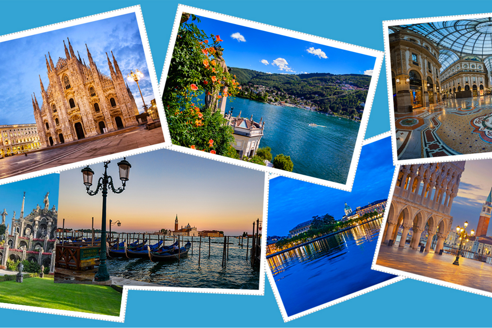 Across Italy you can not miss Milan Northern Lakes Venice